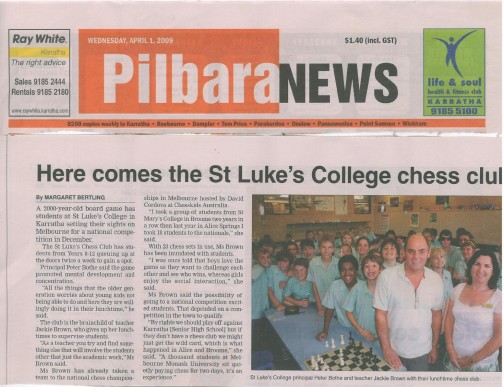 Pilbara News Chess Club St Luke's