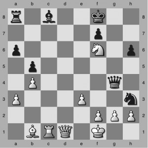 Black to Play. Should he play 1...Qxd1 or 1...Qe6.