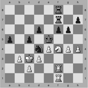 Shaw v Robes 1968 - Black to play and blunder.